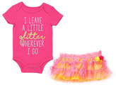 Baby Starters Hot Pink 'Glitter' Bodysuit & Pink Tutu Skirt - Infant