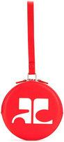 Courreges circle logo clutch