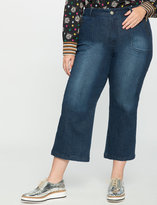 ELOQUII Plus Size Flare Crop Jean