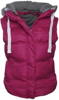 Chaos Theory Women's Sleeveless Gilet Bodywarmer Vest Quilted Hooded Jacket - US 6