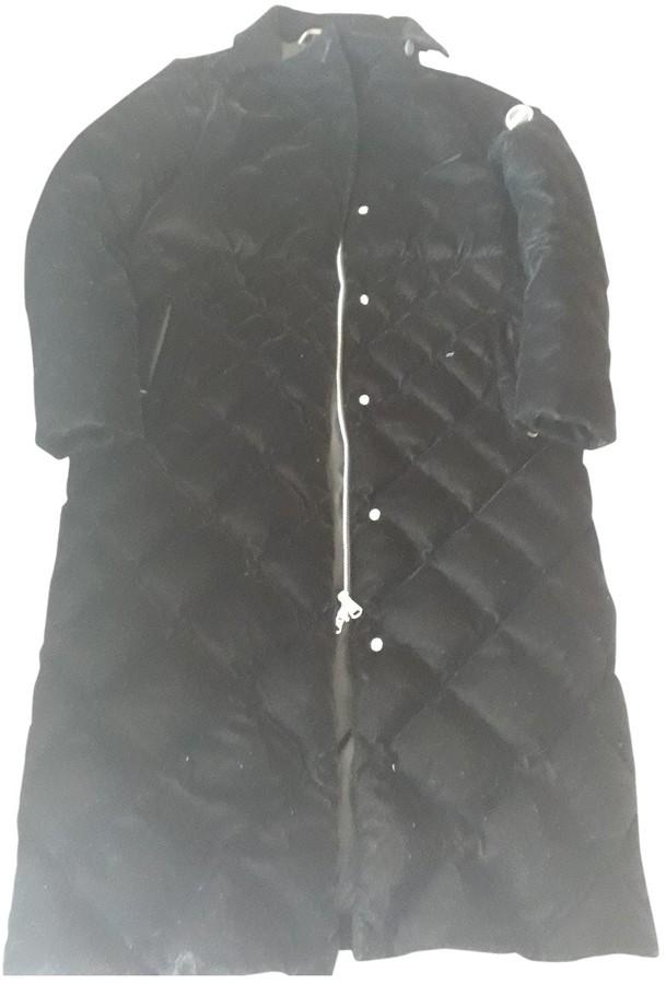 Colmar Black Velvet Coat for Women