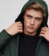 Reiss Reiss Cassidy - Lightweight Hooded Jacket In Green, Mens