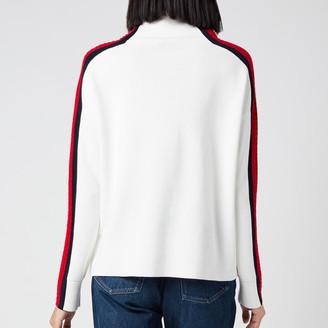 Tommy Hilfiger Women's Side Stripe Mock Neck Sweater