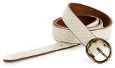 Lucky Brand Neutral Embroidered Skinny Belt