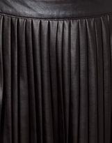 Asos Coated Midi Skirt with Pleats