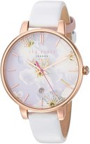 Ted Baker Women's 'KATE' Quartz Stainless Steel and Leather Dress Watch, Color: (Model: 10031545)