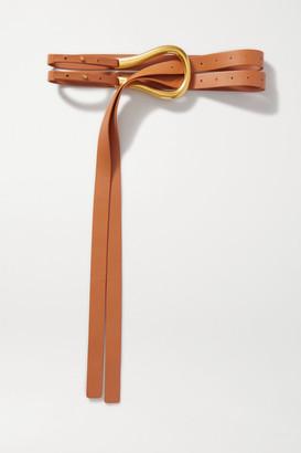 Bottega Veneta Leather Belt - Camel