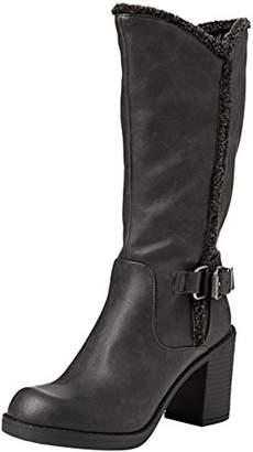 Rocket Dog Sadler,Womens Biker Boots,Black (Roast Black), (39 EU)
