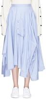 Enfold Reconstructed shirt drape poplin maxi skirt