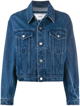 Ami Boxy-Fit Denim Jacket