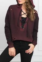Styles Boutique Distressed Hooded Sweatshirt