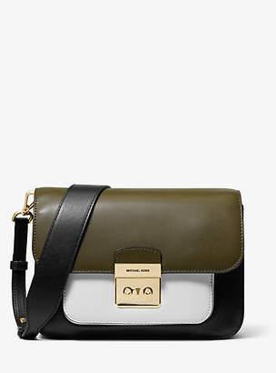 Michael Kors Sloan Editor Color-Block Leather Shoulder Bag