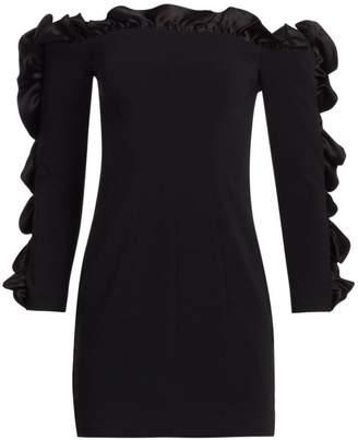 Cinq à Sept Rosemarie Ruffled Off-The-Shoulder Mini Dress