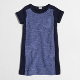 J.Crew Factory Girls' short-sleeve tweed panel sweatshirt dress