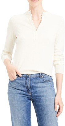 Theory Cashmere Henley Sweater