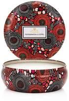 Voluspa Japonica Persimmon & Copal 3 Wick Candle in Decorative Tin