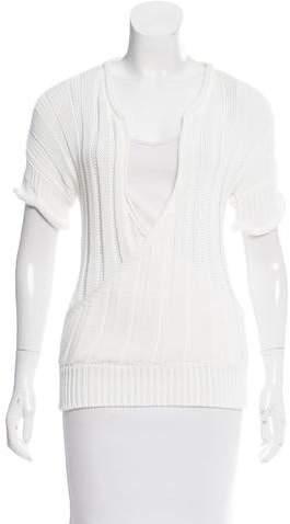 Jean Paul Gaultier Open Knit Short Sleeve Top