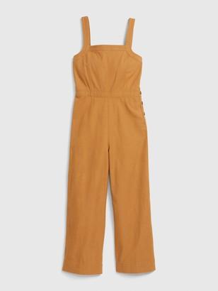 Gap Apronneck Jumpsuit in Linen-Cotton