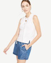 Ann Taylor Sleeveless Lace Up Sweater