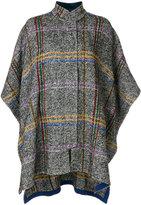 Etro plaid cape - women - Silk/Cotton/Viscose/Polyimide - 42