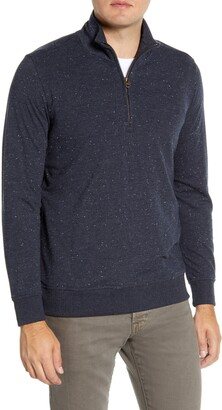Billy Reid Cotton Blend Quarter Zip Pullover
