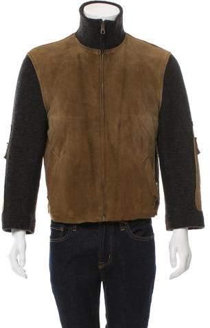 Dolce & Gabbana Suede & Wool-Blend Jacket