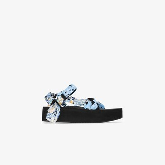 Arizona Love blue and yellow Trekky mix bandana sandals