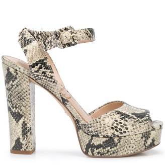 Sam Edelman Kath 110mm snake-effect sandals