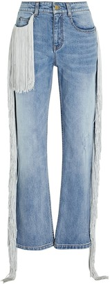 Hellessy Beau Fringed Straight-Leg Jeans