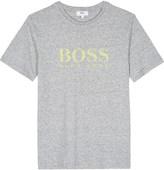 HUGO BOSS Textured logo cotton t-shirt 4-16 years