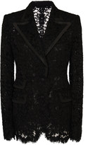 Dolce & Gabbana Faille-Trimmed Lace Blazer