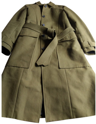 Whistles Khaki Viscose Trench coats