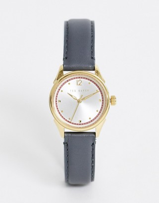 Ted Baker Luchiaa leather watch in gray