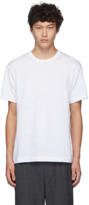 Comme des Garcons Homme Deux White Eyelet T-Shirt