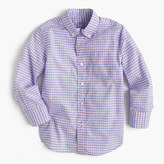J.Crew Kids' Secret Wash shirt in violet gingham