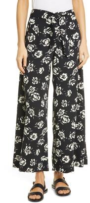 Polo Ralph Lauren Floral Wide Leg Satin Pants