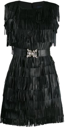 Class Roberto Cavalli Fringed Mini Dress