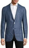 Isaia Gingham Wool Jacket