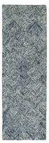 """Pantone Colorscape 42111 100% Wool Runner - Gray/Tan (2'6""""x8')"""