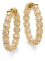Saks Fifth Avenue Diamond & 14K Yellow Gold Hoop Earrings
