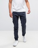 Solid Cuffed Cargo Pants With Belt