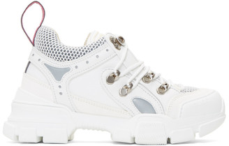 Gucci White Flashtrek Chunky Sneakers