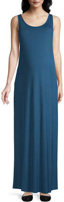 PLANET MOTHERHOOD Planet Motherhood-Maternity Sleeveless Maxi Dress