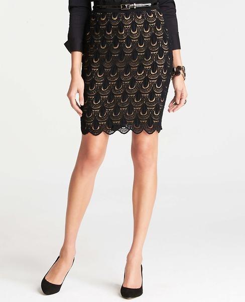 Ann Taylor Teardrop Lace Skirt