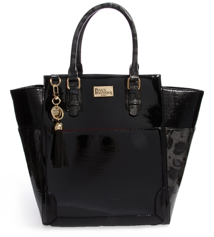 Paul's Boutique Melissa Patent Winged Tote