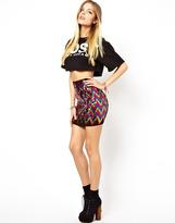 Asos Mini Skirt in Zig Zag Sequin