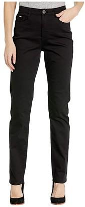 FDJ French Dressing Jeans Sunset Hues Denim Suzanne Straight Leg in Black (Black) Women's Jeans