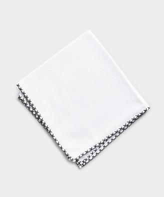 Mungai Cotton Flannel Pocket Square in White