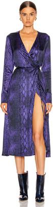 Andamane Beverly Wrap Dress in Purple Python | FWRD