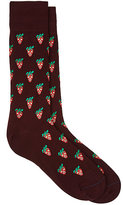 Paul Smith Men's Strawberry-Skull-Print Mid-Calf Socks